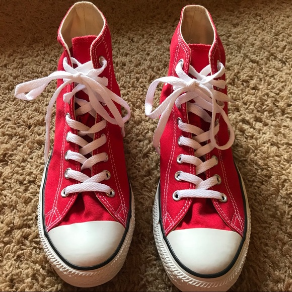 """db4cc12f4f07 Converse Other - Converse """"Chuck Taylor"""" Red High Tops - Size 9"""